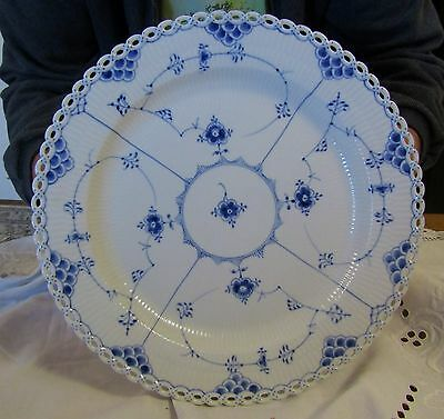 "Royal Copenhagen Blue Fluted Full Lace 13"" Serving Plate   Vintage"