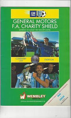 Coventry City v Everton Charity Shield 1987 Football Programme