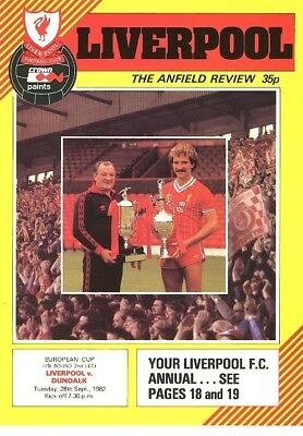 LIVERPOOL v Dundalk (European Cup) 1982/3