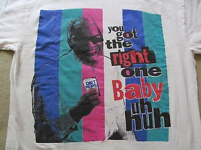 RARE Vtg 1990s RAY CHARLES YOU GOT THE RIGHT ONE BABY Diet Pepsi T shirt Adult L