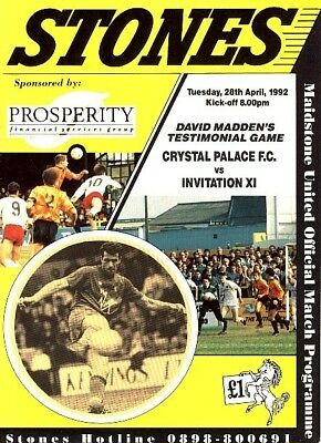 MAIDSTONE v C Palace 1991/2 Last game @ Watling Street