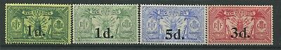 New Hebrides KGV 1921-24 values mint o.g.