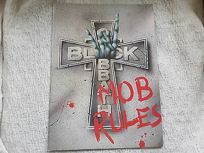 Back Sabbath Mob Rules Tour programme