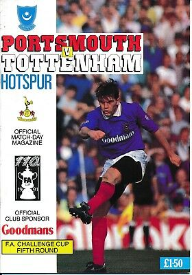 PORTSMOUTH v Tottenham  (FA Cup) 1990/1 - Spurs Cup Winners!