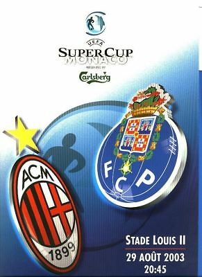 UEFA SUPER CUP 2003: AC Milan v Porto - Press pack