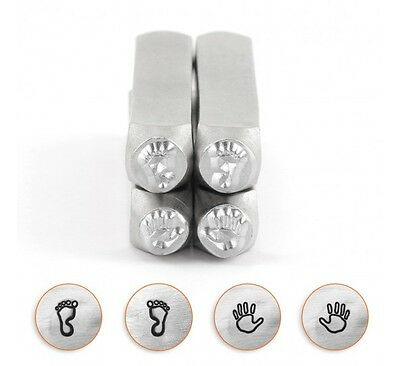 Metal Stamps Punches Hand Stamps Feet Stamps Metal Stamping Tools 4 pack 6mm