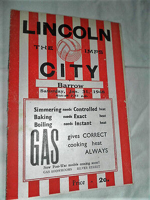 1947/8 Div3 North Lincoln City V Barrow