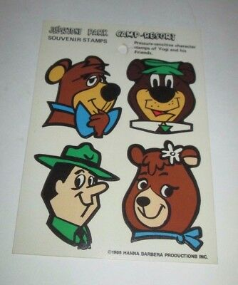 Hanna Barbera Yogi Bear Jellystone Park Camp Resort Vintage 1988 Sticker Sheet