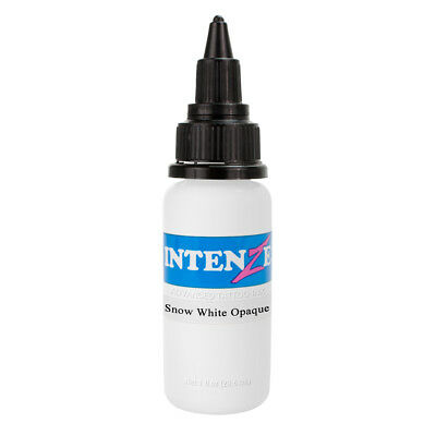 Snow White Opaque Intenze Authentic Tattoo Ink 1oz Bottle