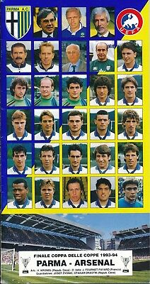 CUP WINNERS CUP FINAL 1994 Arsenal v Parma - Parma edition