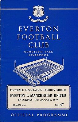 FA CHARITY SHIELD PROGRAMME 1963 Everton v Man Utd