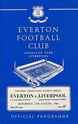 FA CHARITY SHIELD PROGRAMME 1966 Everton v Liverpool