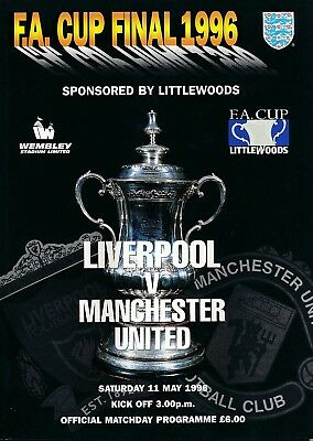 FA CUP FINAL PROGRAMME 1996 Man Utd v Liverpool