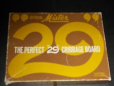 Vintage Mister 29 Cribbage Crib Board With Card And Peg Holder