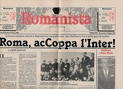 UEFA CUP FINAL 1991 Roma v Inter Milan  Romanista issue