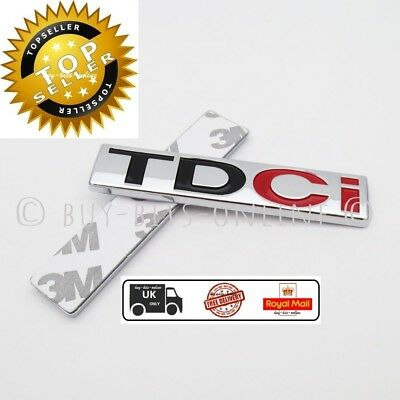 TDCi Badge Emblem Ford Fiesta, Galaxy, Focus, Mondeo, Kuga, S-Max, C-Max. NEW UK