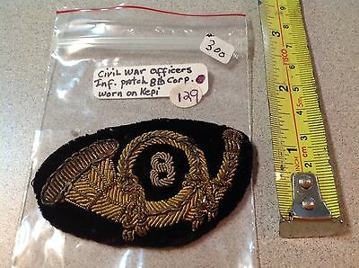 Rare CIVIL WAR OFFICER Ifantry 8th regiment HAT INSIGNIA emblem from Kepi