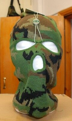 #BALACLAVA Woodland colour - Green - Black  -  New