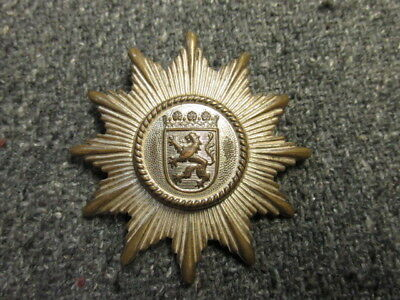 Pre Wwii German Police Cap Badge-Hessen-Original