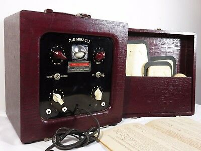 Vtg PORTABLE ELECTROTHERAPY MEDICAL QUACK HEALTH DEVICE Muscle Stimulator RARE