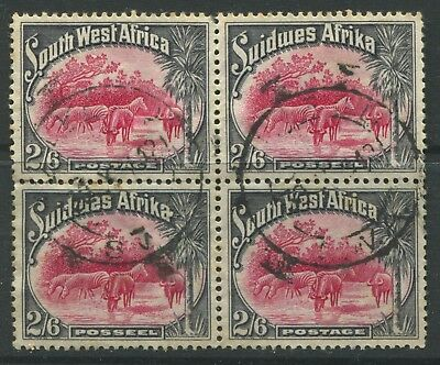 South West Africa 1931 2/6d used block of 4