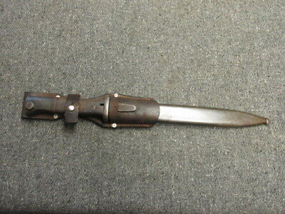 WWII GERMAN 98K MAUSER BAYO W/ MATCHING NUMBERED SCABBARD & FROG-44asw