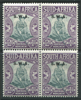 South West Africa 1935 2d & 1d semi-postal mint o.g. block of 4