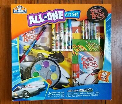 Rare New 2008 Speed Racer Movie All In One Art Toy Set - Mach 5 Car Elmers