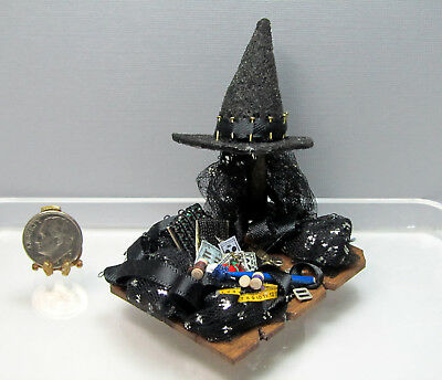 Dollhouse Miniature Witch Hat Making in Process #1 by Shadow Box