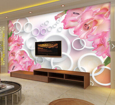 3D Pink Petal 626 Wallpaper Murals Wall Print Wallpaper Mural AJ WALL AU Kyra