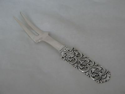Brodrene Lohne Norway 830s Silver Kloster Large Meat Fork