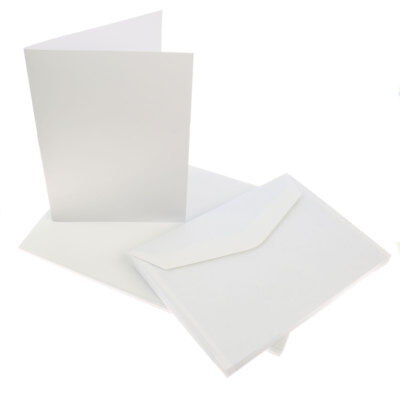 20 x A6 Blank Greeting Cards Print Your Own Inkjet Laser Envelopes Card Making