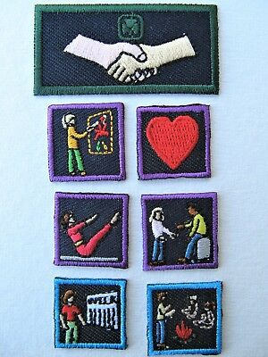 Girl Guides Canada  7 Program Badges Patch Scouts Brownies