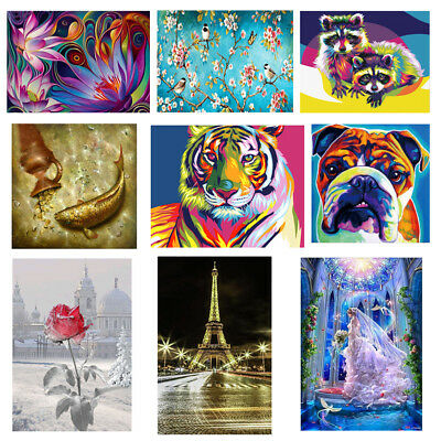 DIY 5D Diamond Embroidery Painting Cross Stitch Crafts Kit Home Wall Room Decor