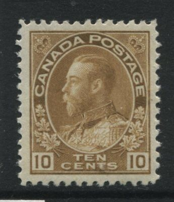 Canada 1925 10 cents bistre brown Admiral unmounted mint NH
