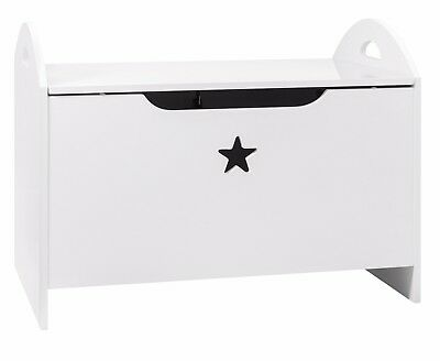 Toy Box in White with Star Design Toy Organiser Zeta