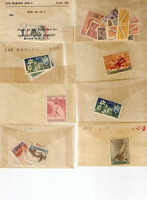 SAN MARINO 1949-1967 Mint NH New Issues NO RESERVE!!!