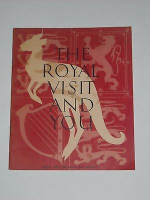 THE ROYAL VISIT AND YOU 1954 Booklet Queen Elizabeth II