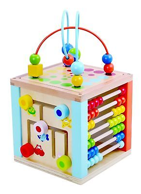 Play Cube 5 in 1 Activity Center Educational Wooden Toy (34 cm)