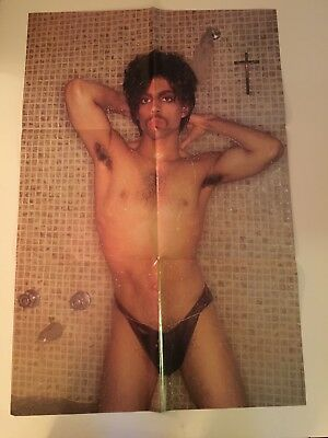 PRINCE 1981 Original CONTROVERSY POSTER, Sexy Shower Scene, Limited Edition.