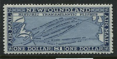 Newfoundland 1931 $1 unwatermarked Airmail mint o.g. and VF