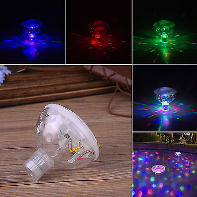 Floating Underwater LED Disco Light Glow Show Swimming Pool Hot Tub Spa Lamp US