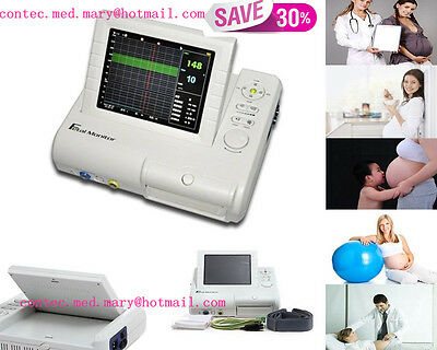 Fetal monitor,Fetal Heart Rate &Maternal uterine contraction, Alarm&Recorder,Hot