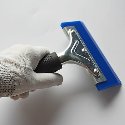 """5"""" Pro Deluxe Handle Squeegee Wrap Anti-Slip Grip Blue Rubber Blade Tinting Tool"""