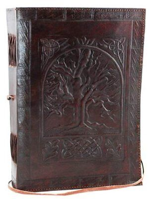 "Blank Book Journal Large Tree of Life PU Leather Diary 240 Pages 7""x10"" Notebook"