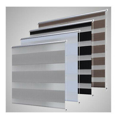 vidaXL Zebra Roller Blind Blackout Daynight Window Sunscreen Multi Colours Sizes