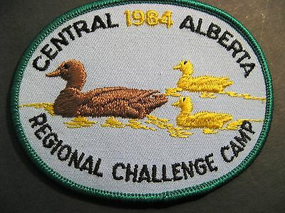 Boy Scouts Canada 1984 Central Alberta Regional Challenge Camp  Patch Cubs