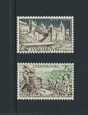 1958 LUXEMBOURG Open Air Theatre & Wine Issues MNH (Scott 344-345)