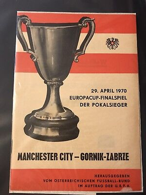 1970 European Cup Winners Cup Final Manchester City v Gornik Zabrze