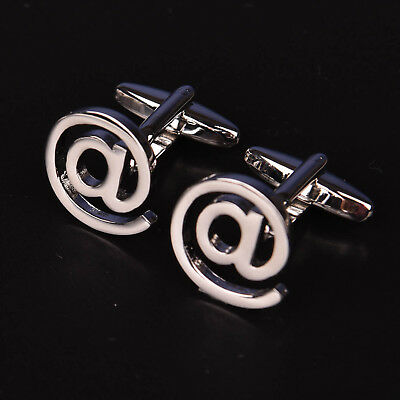 Silver @ Dot Com Men's Jewelry Cuff Links Technology Sexy Nerd Fashion Cufflinks